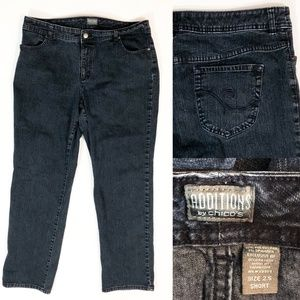 Additions by Chicos Blue Denim Straight Leg Jeans